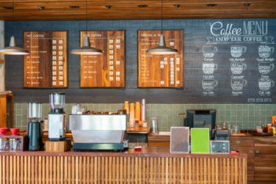 Digitale Werbung im Cafe